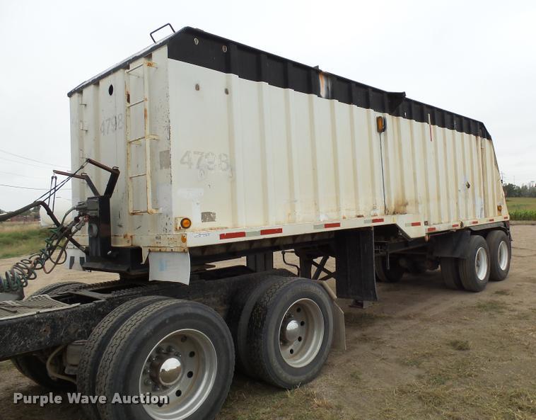 2002 shop built end dump trailer