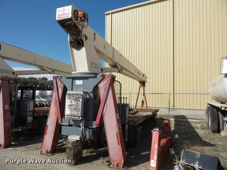 2000 Terex BT3800 crane bed