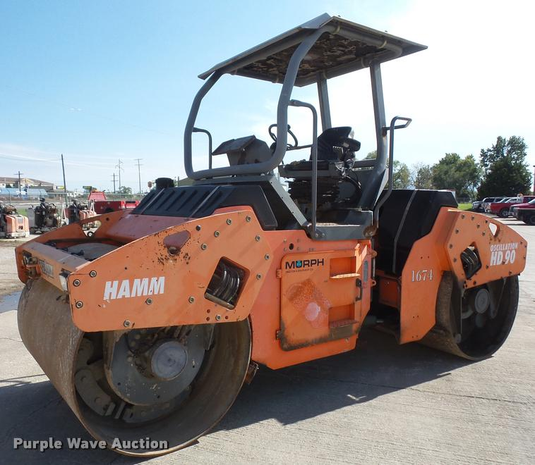2003 Hamm HD90V vibratory double drum roller