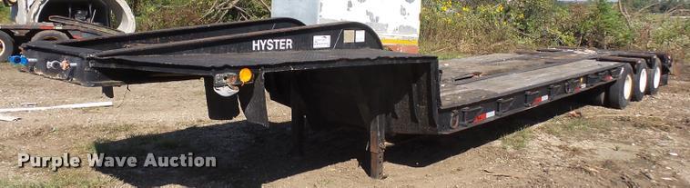 1968 Hyster R35TL3-T1N lowboy equipment trailer