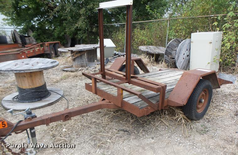 1991 shop built utility trailer