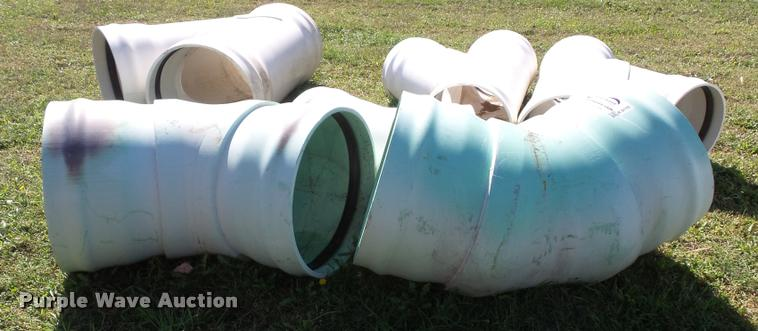 (8) large diameter shedule 40 PVC fittings