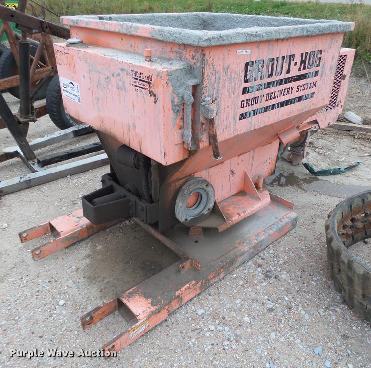 Grout Hog grout pump