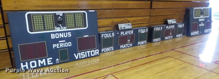 (2) Fairtron BB-6200 scoreboards