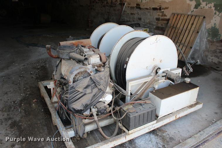 Sewer machine power unit