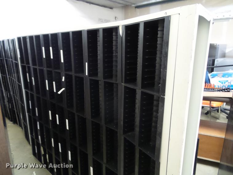(4) VHS and cassette tape cabinets