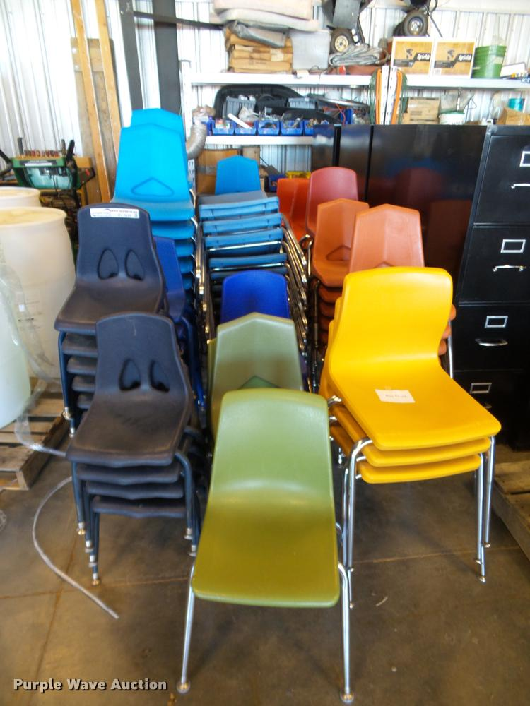Approximately 100 preschool chairs