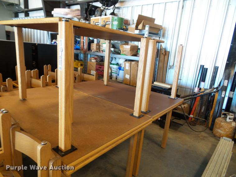 (5) wood tables