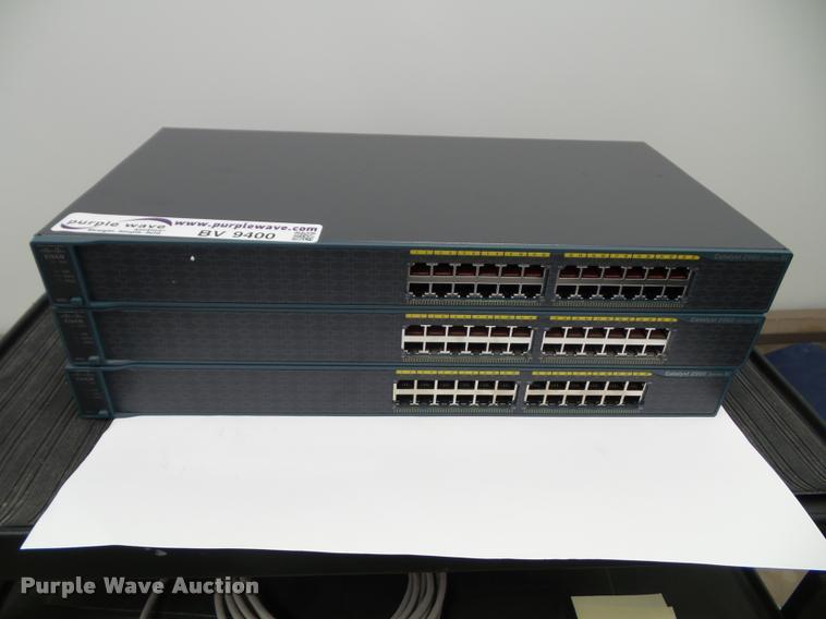(3) Cisco WS-C2960-24-S switches