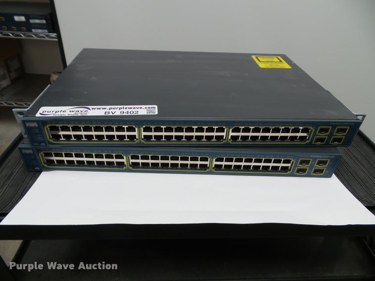 (2) Cisco WS-C3560-48TS-S switches