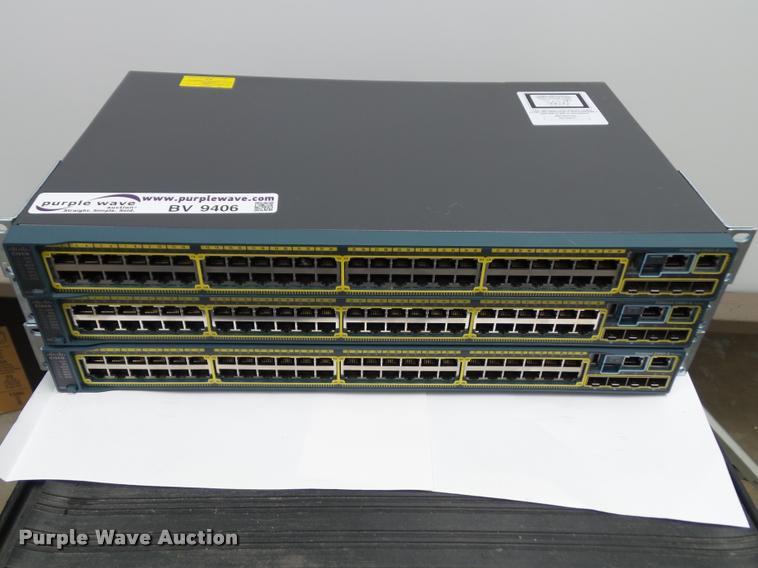(3) Cisco WS-C2960S-48TS-L switches