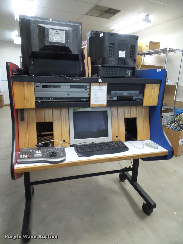(4) television studio carts