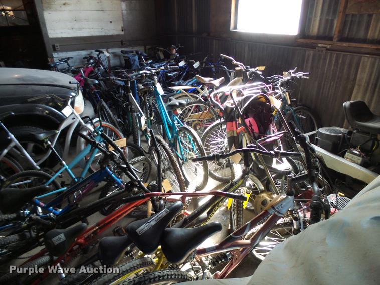 Approximately 40 bicycles