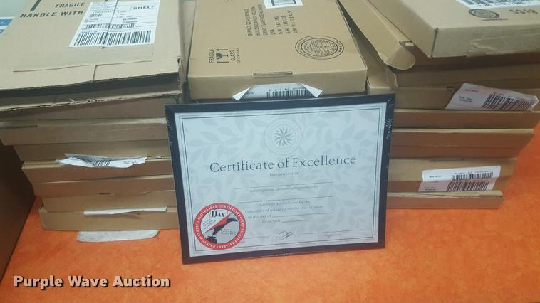 (24) boxes of certificate frames