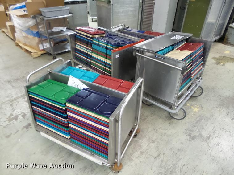 (4) stainless steel lunch carts