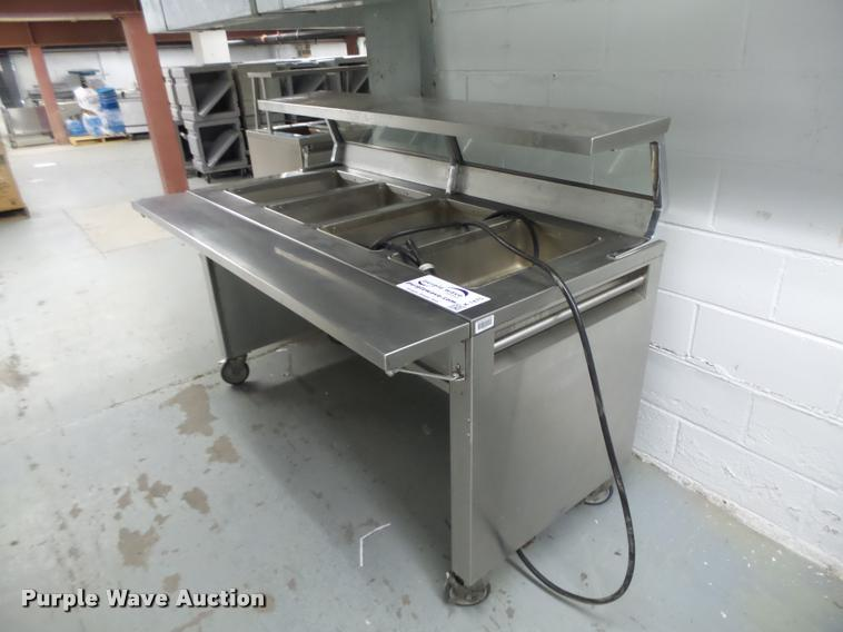 Precision stainless steel four well hot buffet table