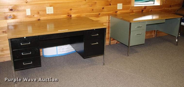 (2) metal desks