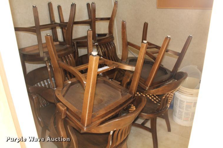 (8) wood chairs