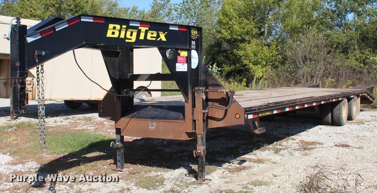 2012 Big Tex 22GN-28+5 equipment trailer