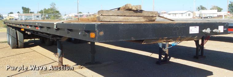 2016 shop built flatbed trailer