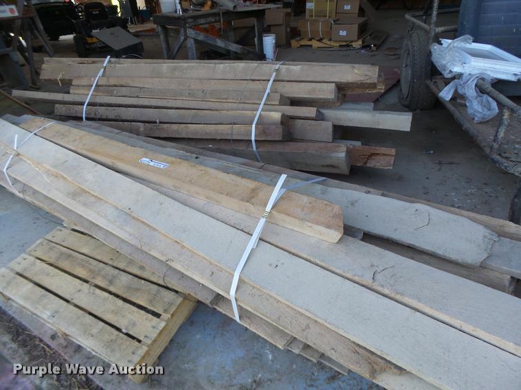 (2) bundles of lumber