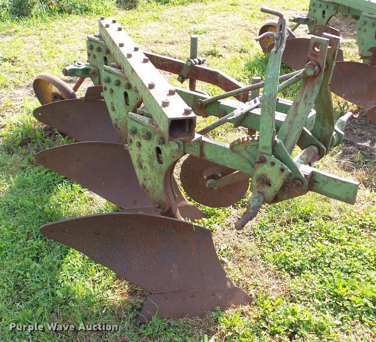 John Deere three bottom plow