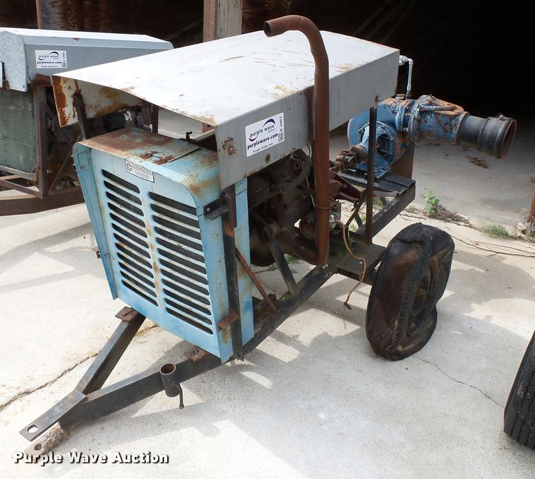 Irrigation power unit and pump