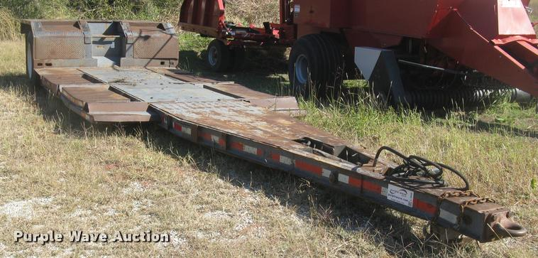 1981 shop built drop deck windrower/swather trailer