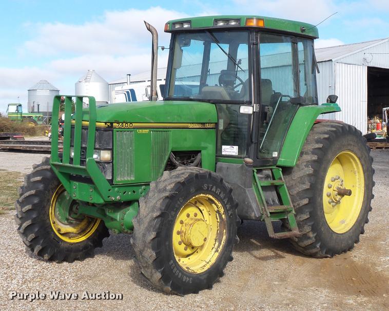 1994 John Deere 7400 MFWD tractor