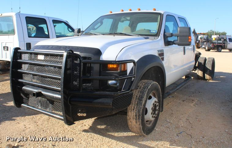 2008 Ford F550 Crew Cab truck cab and chassis
