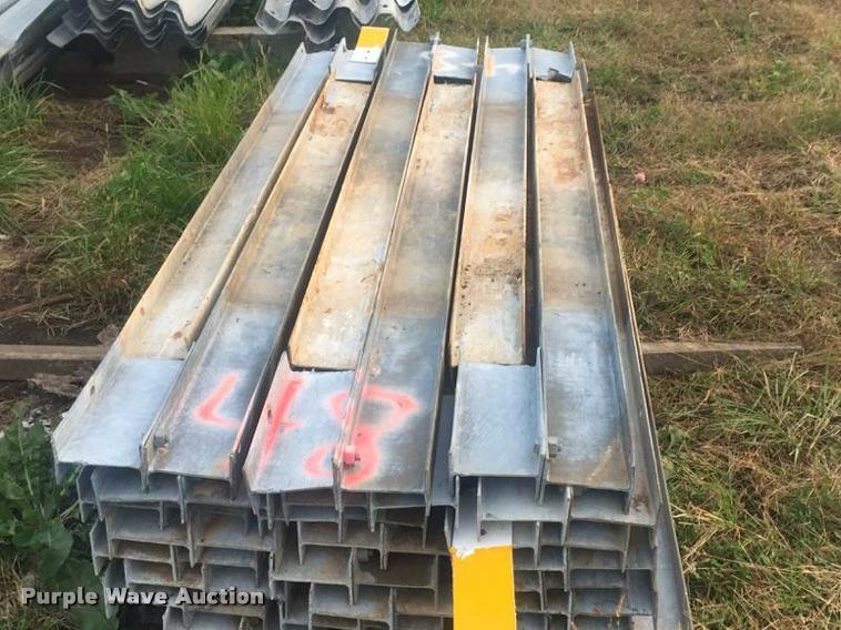 (48) galvanized guard rail posts