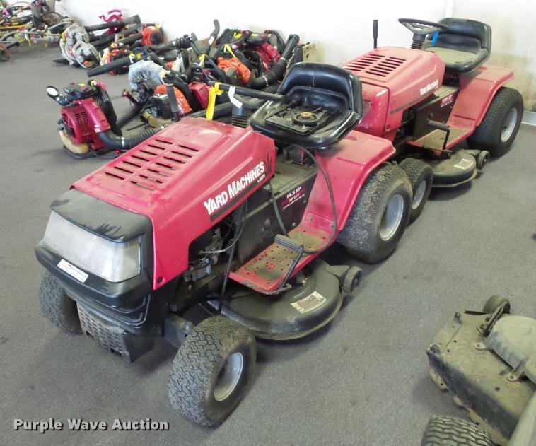 (2) lawn mowers