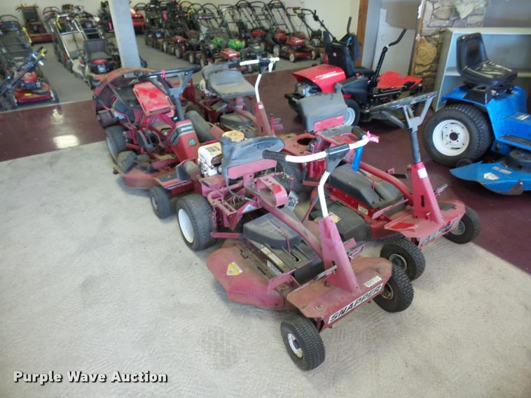 (4) Snapper lawn mowers