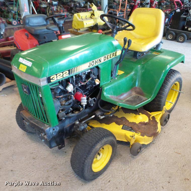 John Deere 322 lawn mower