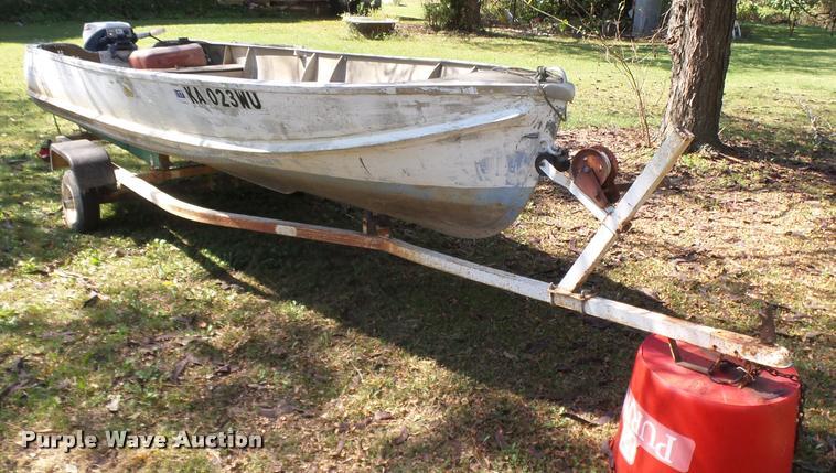 1950 aluminum v-bottom boat