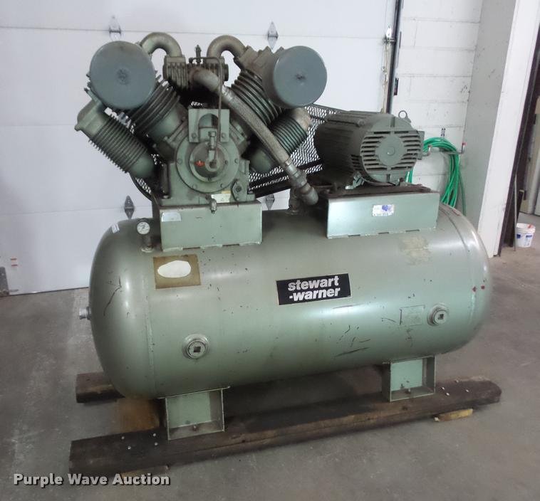 Stewart-Warner air compressor