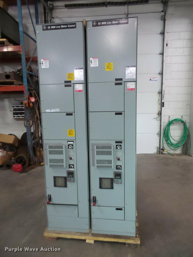 (3) GE 8000 line motor controls