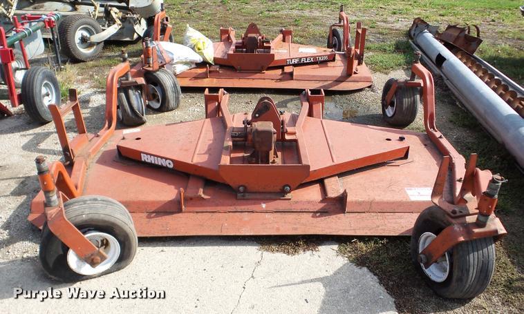 (2) Rhino Turf Flex TX235 rotary mowers