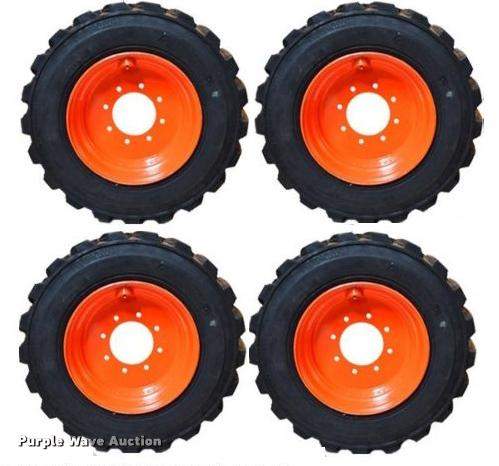 (4) 12x16.5 directional skid steer tires