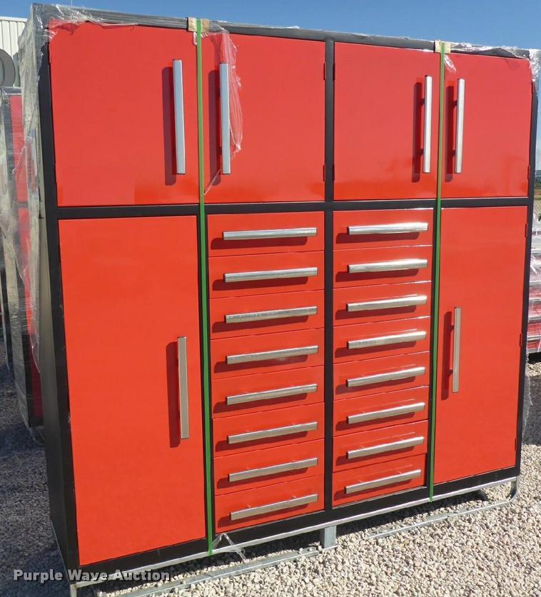 7.21' x 6.57' x 1.96' steel work cabinet