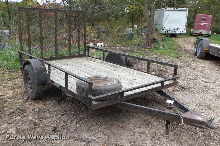 Shop built equipment trailer