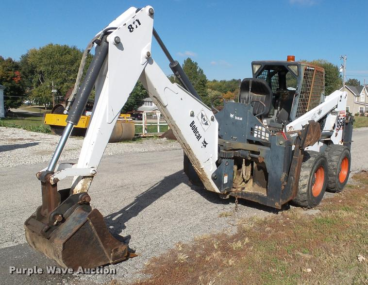 2001 Bobcat 863 skid steer with backhoe attachment