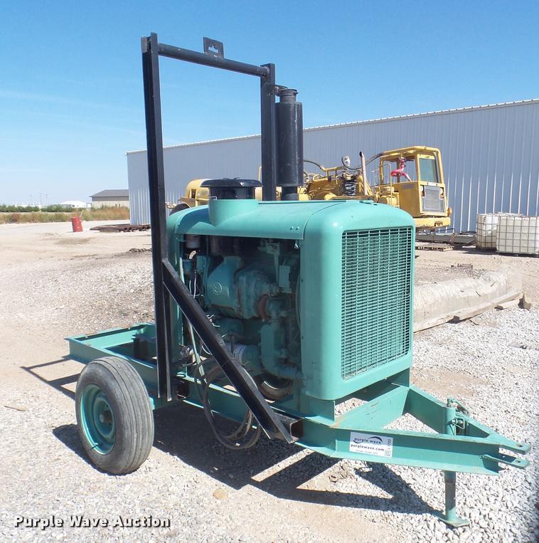 Detroit pump engine trailer