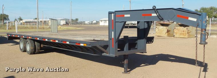 2016 shop built equipment trailer