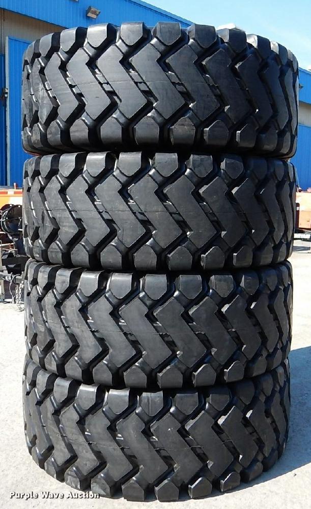 (4) 26.5x25 loader tires