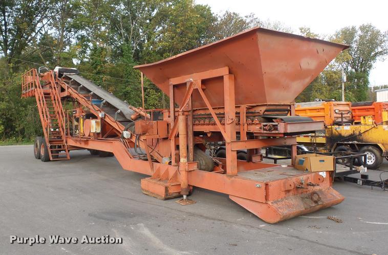 1991 Peerless 30-76-HPP twin shaft pug mill