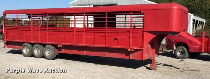 2005 shop built livestock trailer