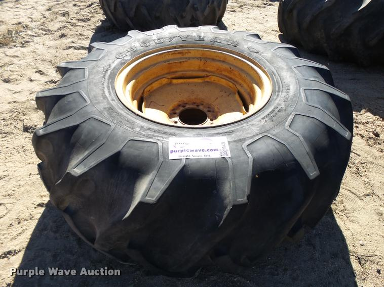 Goodyear 23.1-26 tire and wheel