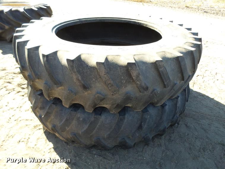 (2) Firestone 480/80R46 tires