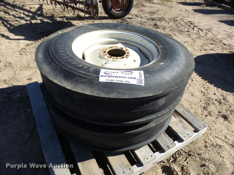 (2) Firestone 7.50-20 tires and wheels